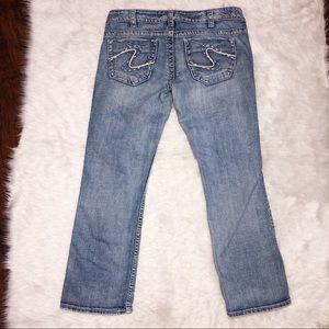 Silver jeans Frances capri light wash size 30